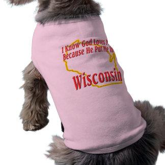 ウィスコンシン-神は私を愛します ペット服