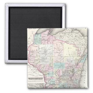 ウィスコンシン(1855年)のヴィンテージの地図 マグネット