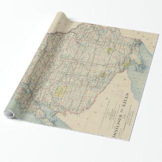 ウィスコンシン(1895年)のヴィンテージの地図 ラッピングペーパー