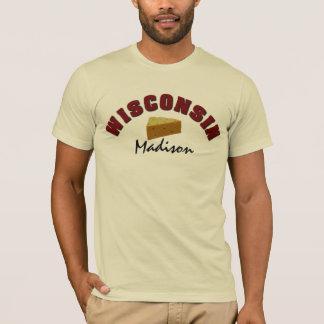 ウィスコンシンCheeseheadのカスタムの町 Tシャツ