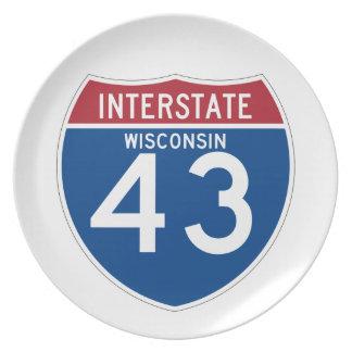 ウィスコンシンWI I-43の州間幹線道路の盾- プレート