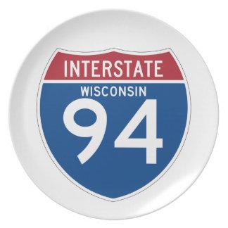 ウィスコンシンWI I-94の州間幹線道路の盾- プレート