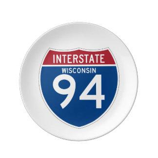 ウィスコンシンWI I-94の州間幹線道路の盾- 磁器プレート