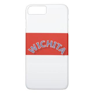 ウィチタの赤と白のiPhone 7のプラスの場合 iPhone 8 Plus/7 Plusケース