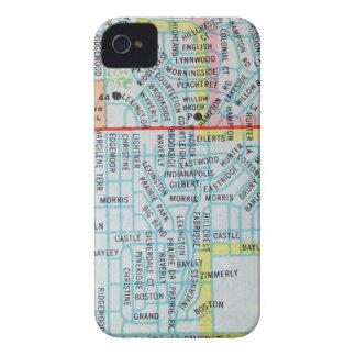 ウィチタのKSのヴィンテージの地図 Case-Mate iPhone 4 ケース