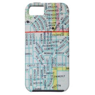 ウィチタのKSのヴィンテージの地図 iPhone SE/5/5s ケース