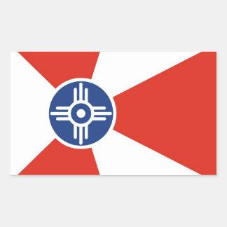 ウィチタ都市旗のカンザスの州アメリカの国 長方形シール
