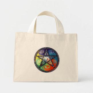 ウィッカ信者の星形五角形の要素 ミニトートバッグ