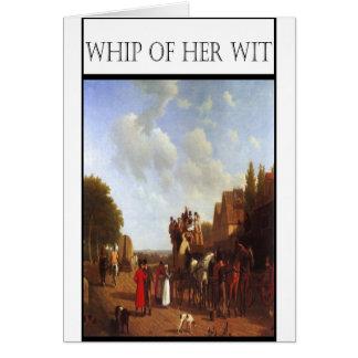 ウィットのポーツマスの彼女の道の鞭 カード