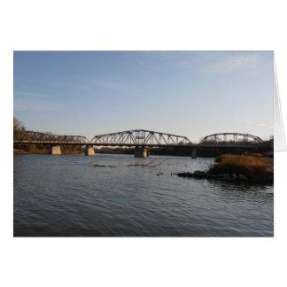 ウィニペグのレッドウッド橋 グリーティングカード