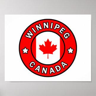 ウィニペグカナダ ポスター