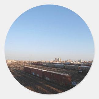 ウィニペグ及び列車のヤードの眺め ラウンドシール