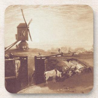 ウィリアムが刻む風車およびロックは言います(1768-1年 コースター