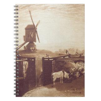 ウィリアムが刻む風車およびロックは言います(1768-1年 ノートブック
