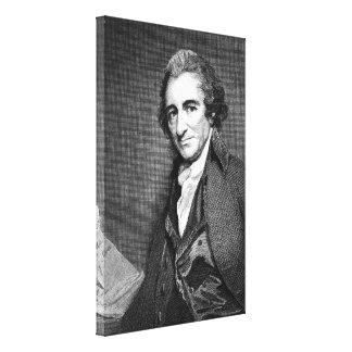 ウィリアムのシャープによるトマス・ペインの版木、銅版、版画 キャンバスプリント