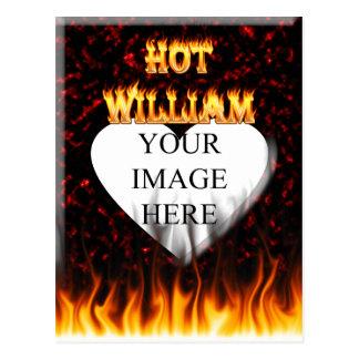 ウィリアムの熱い火および炎の赤の大理石 ポストカード