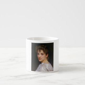 ウィリアムアドルフBouguereau 1890年著Gabrielleの折畳み式ベッド エスプレッソカップ