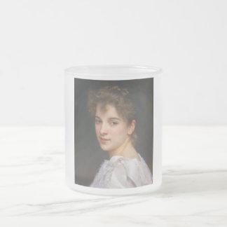 ウィリアムアドルフBouguereau 1890年著Gabrielleの折畳み式ベッド フロストグラスマグカップ