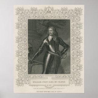 ウィリアムクレーヴンのクレーヴンの第1伯爵 ポスター