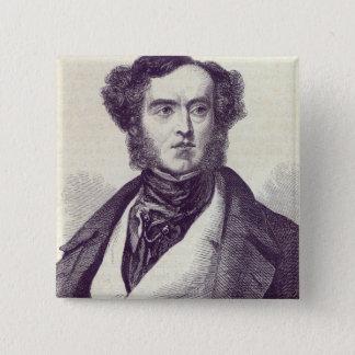 ウィリアムジョージCavendish Bentinck 2主 5.1cm 正方形バッジ