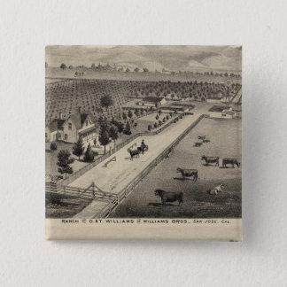 ウィリアムス牧場、Goodrichの石切り場 5.1cm 正方形バッジ