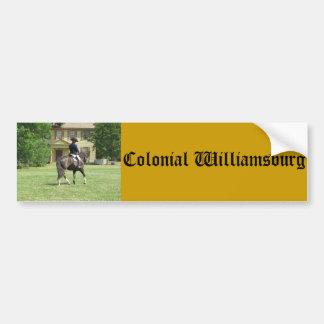 ウィリアムズバーグの植民地バンパーステッカー バンパーステッカー