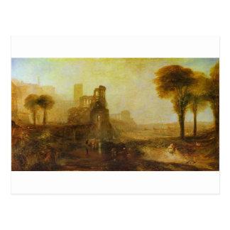 ウィリアムターナー著Caligulaの宮殿そして橋 ポストカード