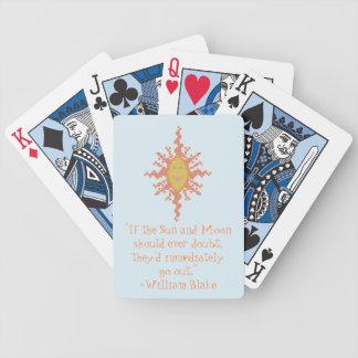 ウィリアムブレイク日曜日およびカードを遊ぶ月の自信 バイスクルトランプ