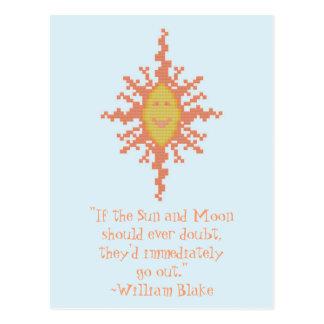 ウィリアムブレイク日曜日および月の自信の引用文 ポストカード