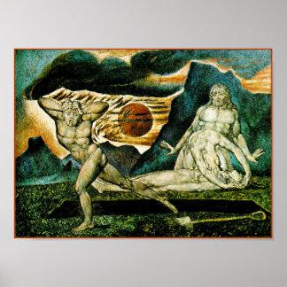 ウィリアムブレイク:  アベルの体はアダム及びイブによって見つけました ポスター