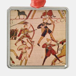 ウィリアム公爵は彼の軍隊を勧めます シルバーカラー正方形オーナメント