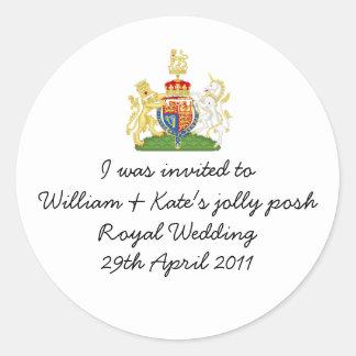ウィリアム及びKateのすてきで優雅で王室のな結婚式のバッジ ラウンドシール
