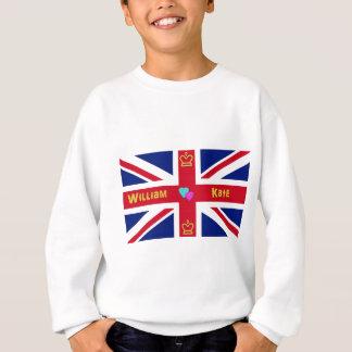 ウィリアム及びKateイギリスの旗 スウェットシャツ