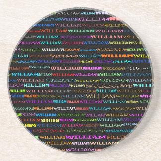 ウィリアム文字デザインなIのコースター コースター