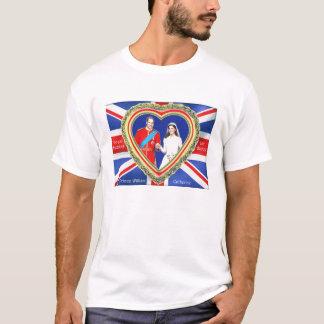 ウィリアム王子およびキャサリンの王室のな結婚式 Tシャツ