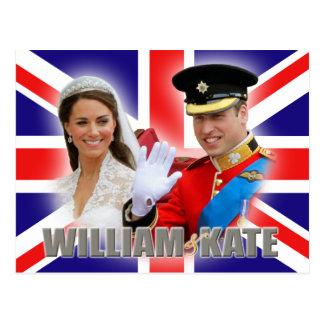 ウィリアム王子及びキャサリンの郵便はがき ポストカード