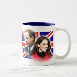ウィリアム王子及びKate Middletonのマグ ツートーンマグカップ