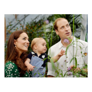 ウィリアム王子、キャサリン公爵夫人及びジョージ王子 ポストカード