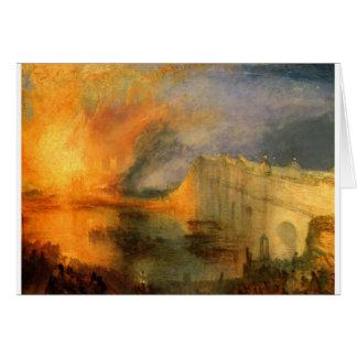ウィリアム著議会の家の焼却 カード