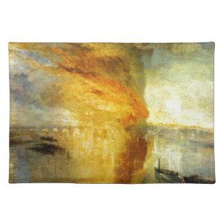 ウィリアム著議会の家の焼却 ランチョンマット