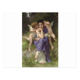 ウィリアム・アドルフ・ブグロー著春の歌 ポストカード