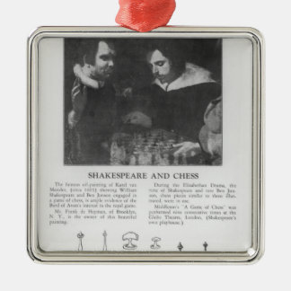 ウィリアム・シェイクスピアおよびベンJonson メタルオーナメント