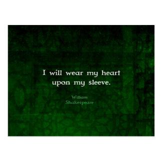 ウィリアム・シェイクスピアお洒落な愛引用文 ポストカード