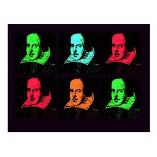 ウィリアム・シェイクスピアのコラージュ ポストカード