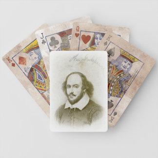 ウィリアム・シェイクスピアのポートレートおよび署名カード バイスクルトランプ