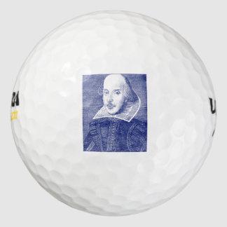 ウィリアム・シェイクスピアのポートレートの最初フォリオ ゴルフボール