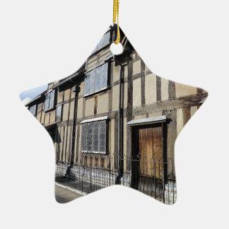 ウィリアム・シェイクスピアの家、AvonにStratford セラミックオーナメント