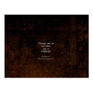 ウィリアム・シェイクスピアの小さく、激しい引用語句 ポストカード