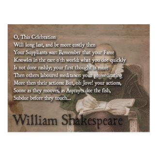 ウィリアム・シェイクスピアの引用文の郵便はがき ポストカード