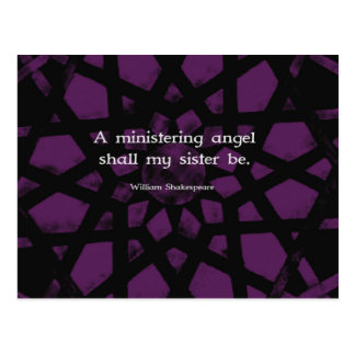 ウィリアム・シェイクスピアの感動的な姉妹の引用文 ポストカード